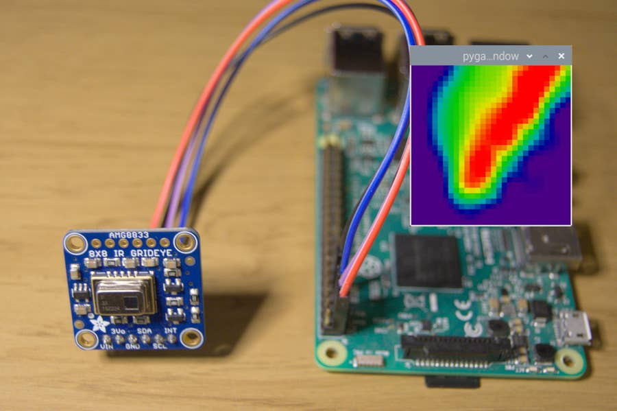 Thermal Camera Connected to Raspberry Pi
