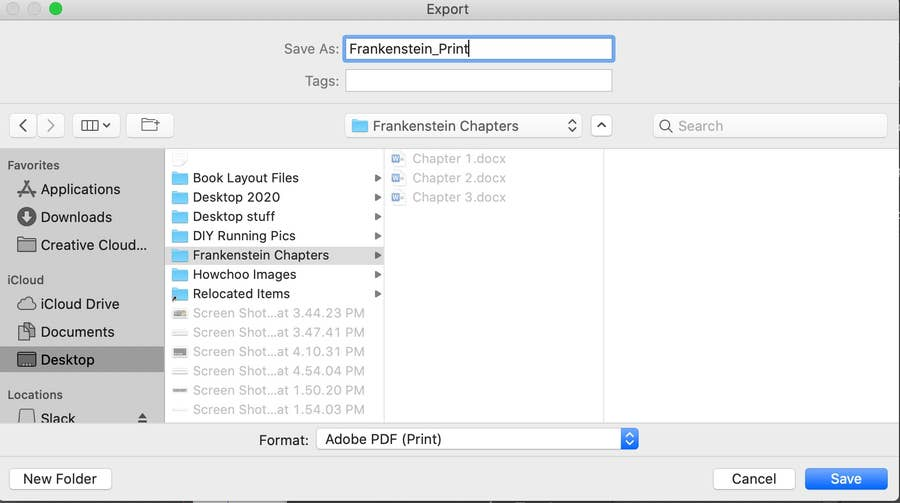 Export as a PDF InDesign