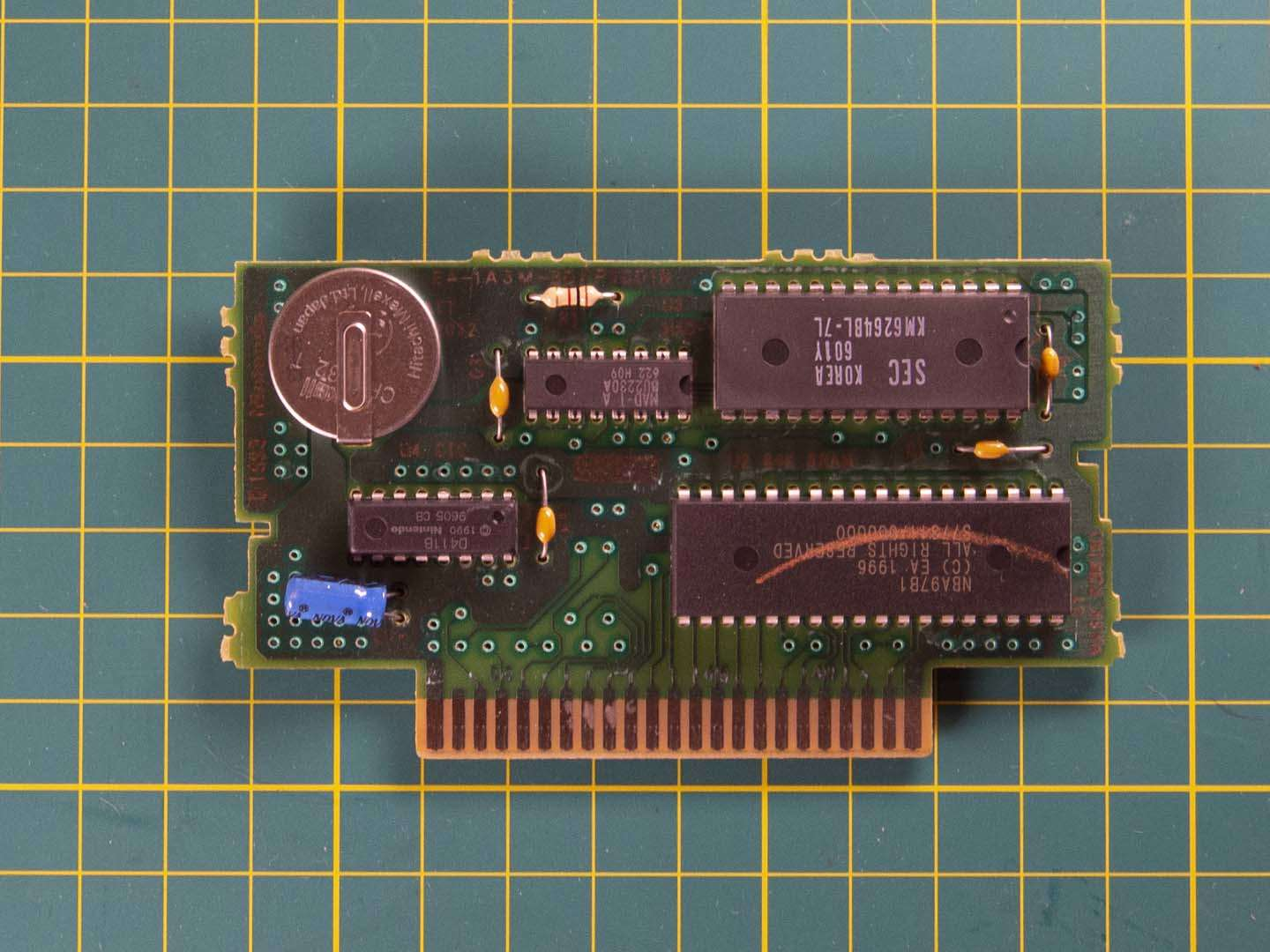 SNES cartridge board