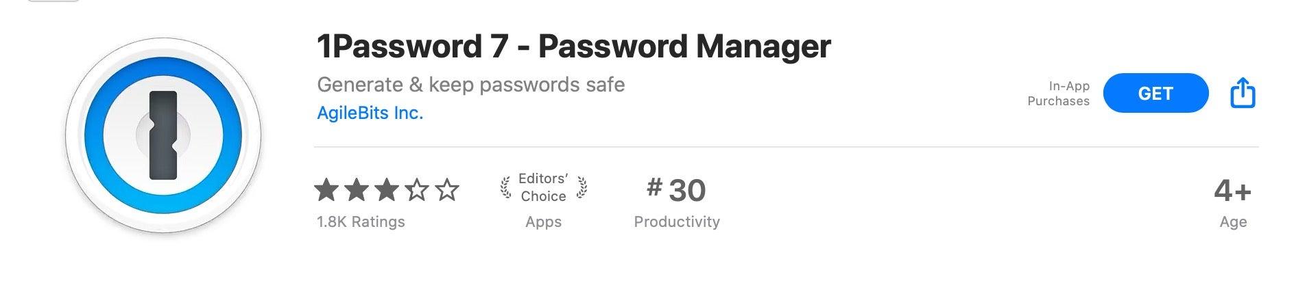 1Password in App Store