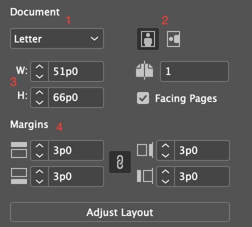 Document Pane InDesign