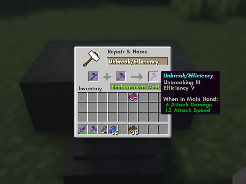 combine items enchanting minecraft