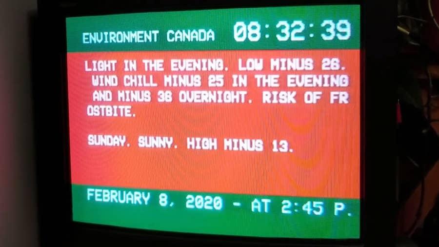 Weather Channel Raspberry Pi