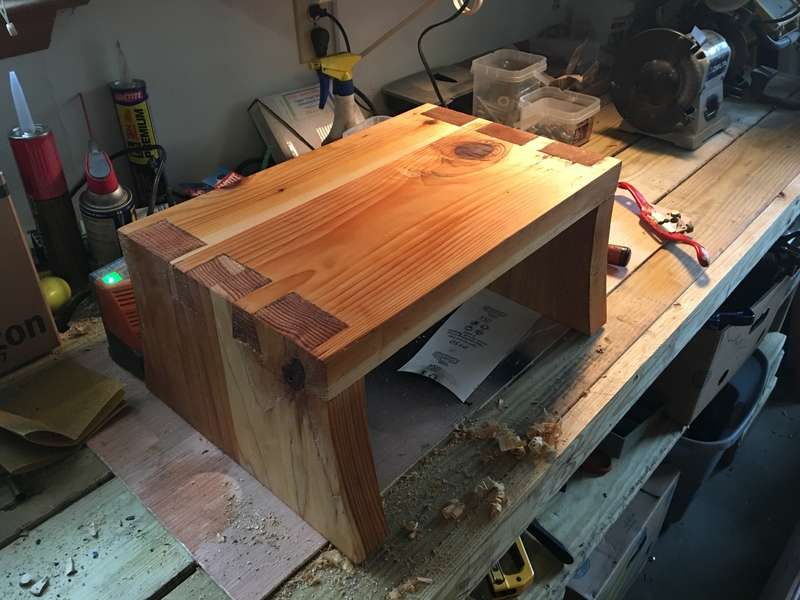 Dovetail Cedar Stool - Hand Tools