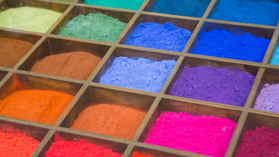 Many paint pigment.