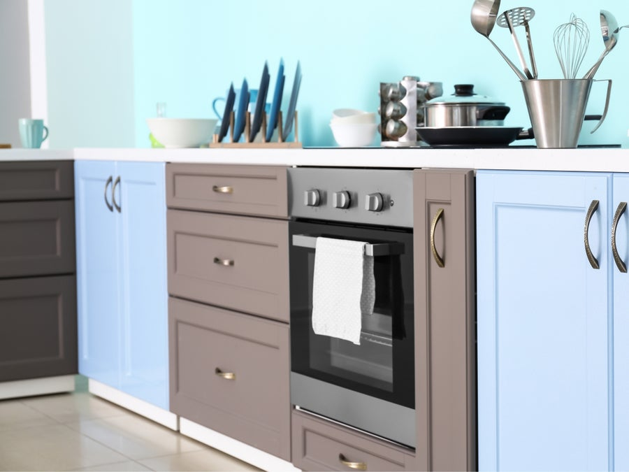 Built-in stove.