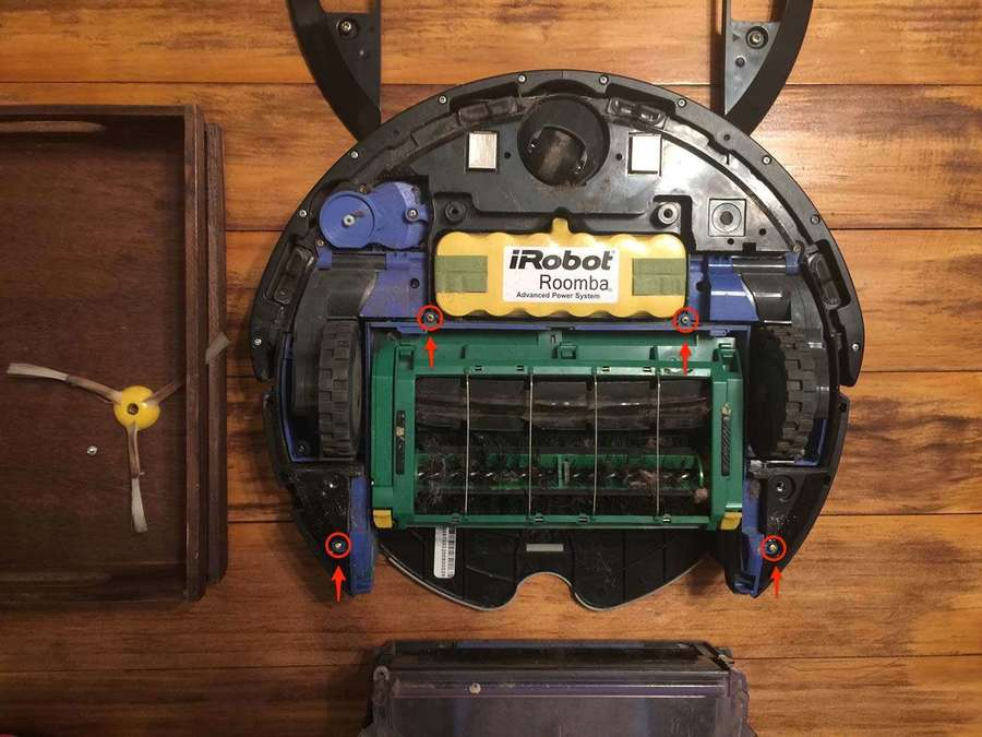 Removing Roomba brush assembly