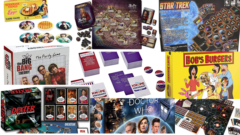 30 Board and Card Games Based on TV Series