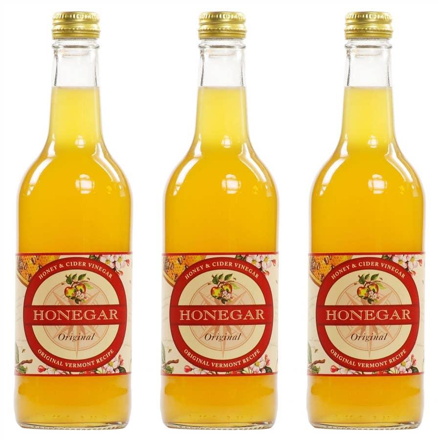 three honegar bottles