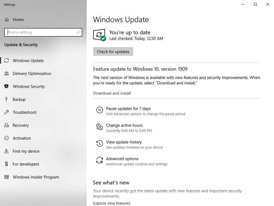 Force Windows 10 Update