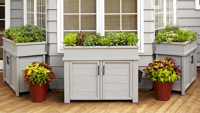 planters with storage
