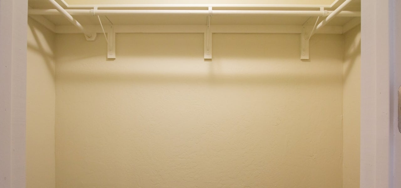 empty closet space