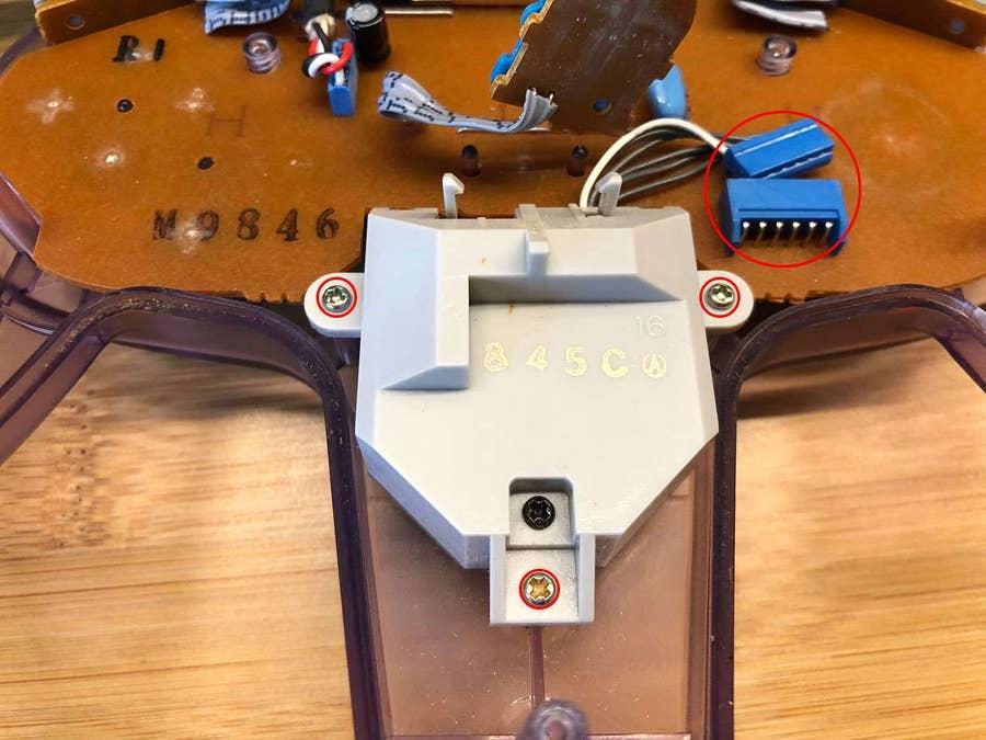 Remove the old joystick assembly