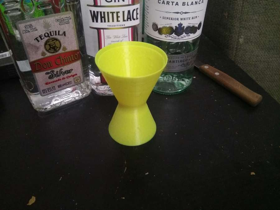 3D-printed cocktail jigger