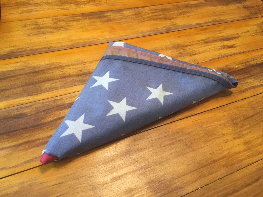 A folded American flag