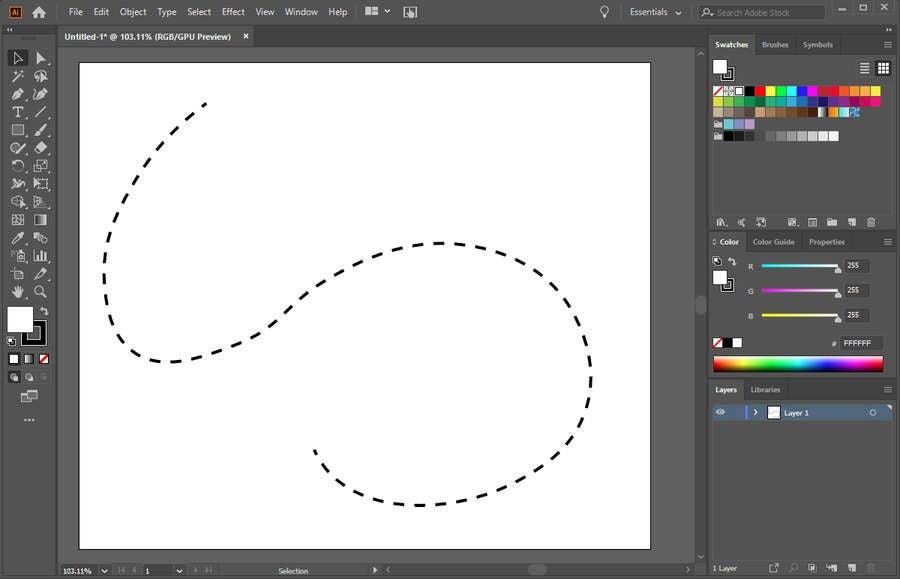 Illustrator Dotted Line