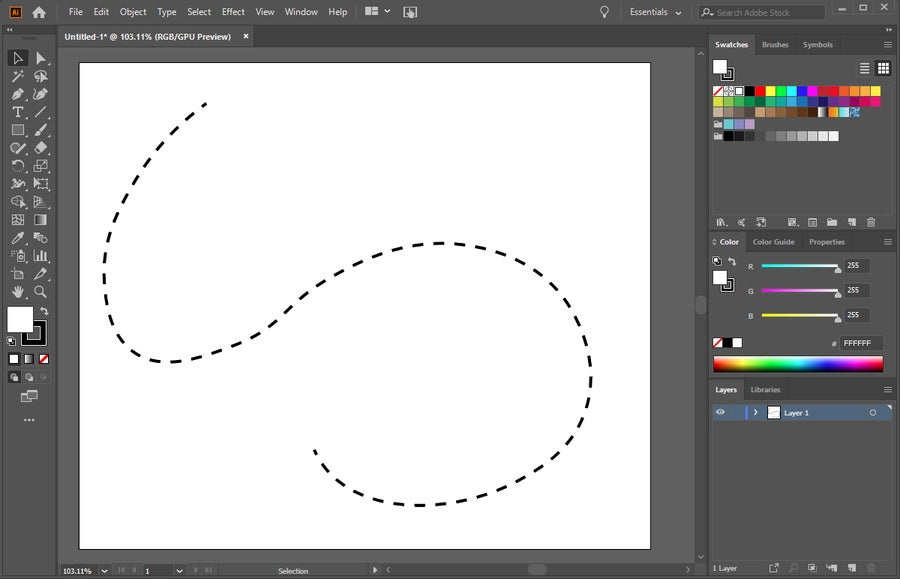 Illustrator Dotted Line