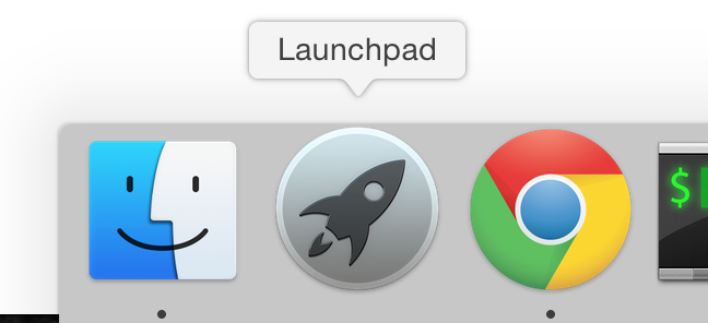 Click the Launchpad icon in the dock