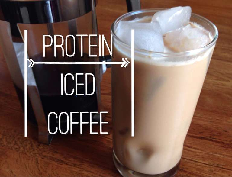How to make protein iced coffee