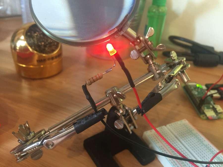 Testing Pi power LED circuit
