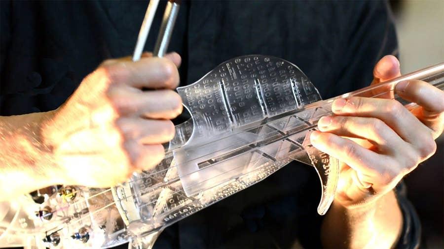 3d printed electric violin