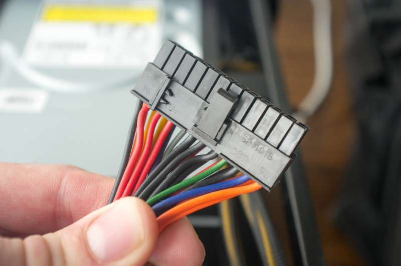 Remove the main connector from the motherboard