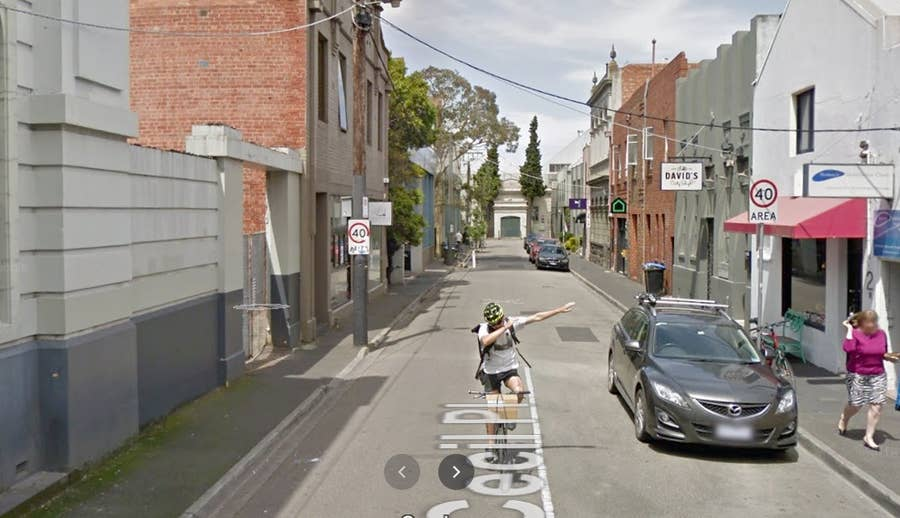 man dabbing google street view