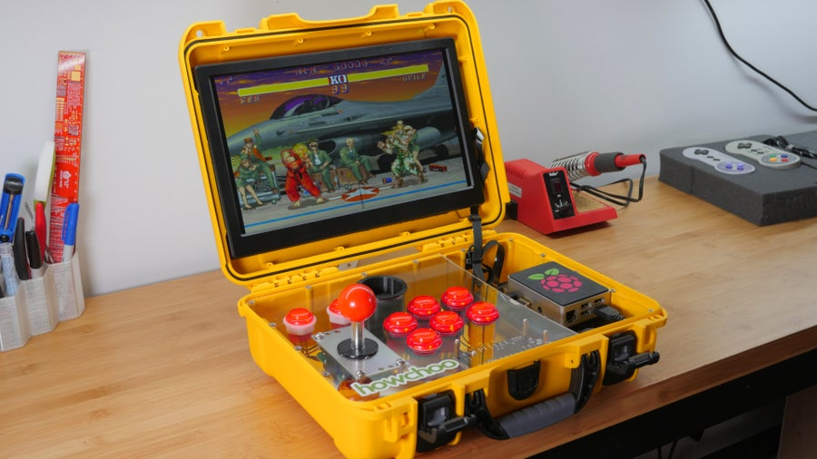 Portable Raspberry Pi arcade