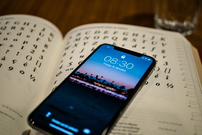 iPhone on Book of Fonts