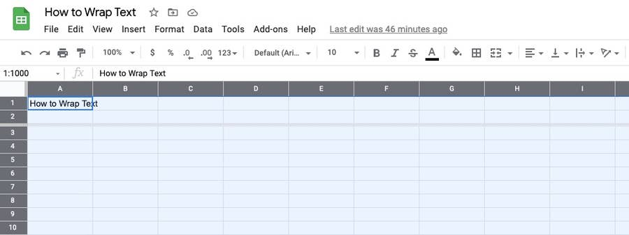 Selected cell Google Sheets