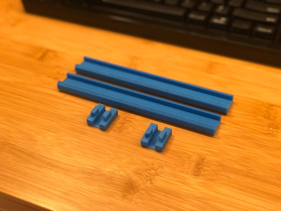 Printed 3D printer LED strip holder