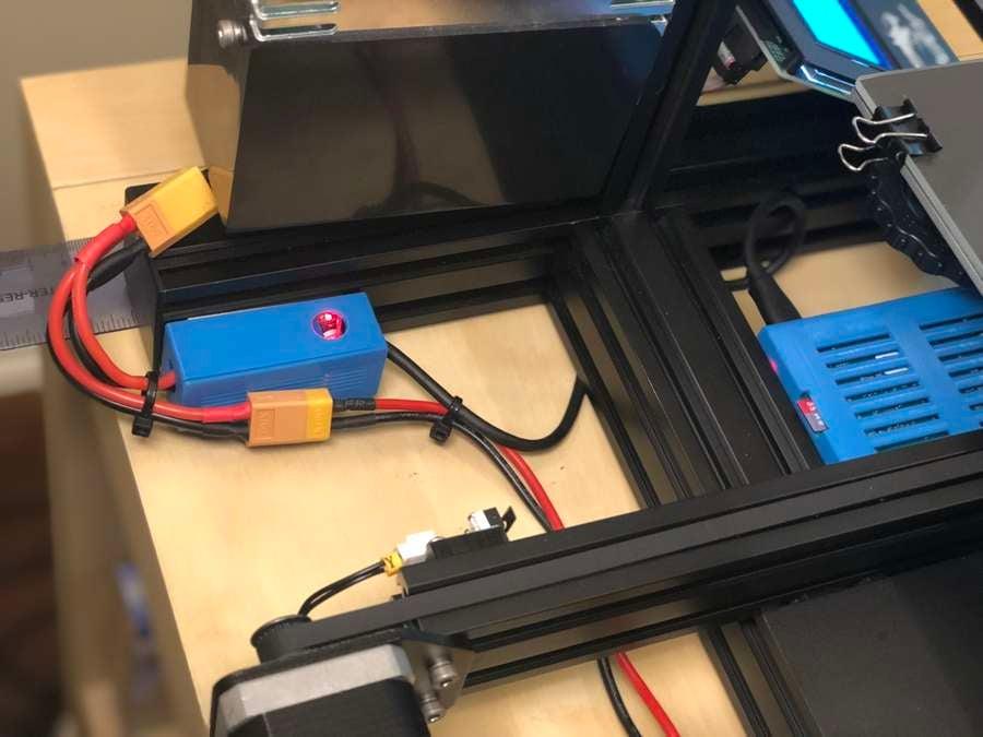 A buck converter powering the Raspberry Pi