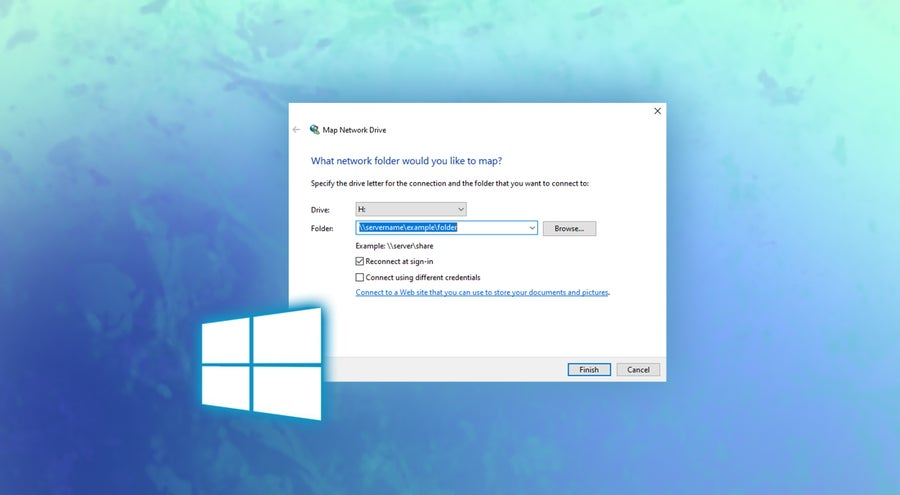 Map Network Drive Windows 10