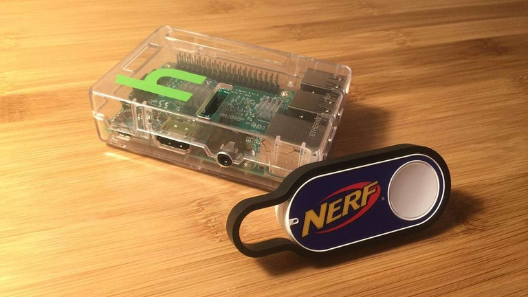 Raspberry Pi with a NERF Amazon Dash Button