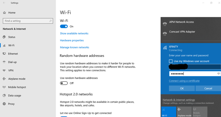 Xfinity WiFi Password Change