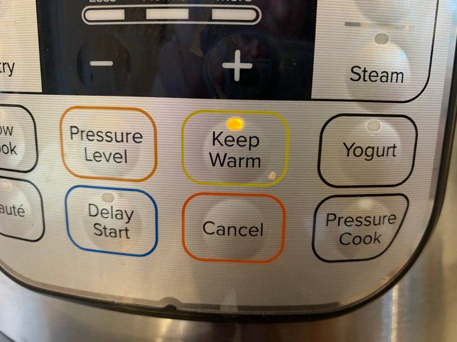 Instant Pot Keep Warm button