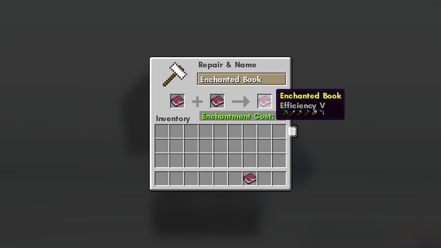 combine enchanted books in minecraft
