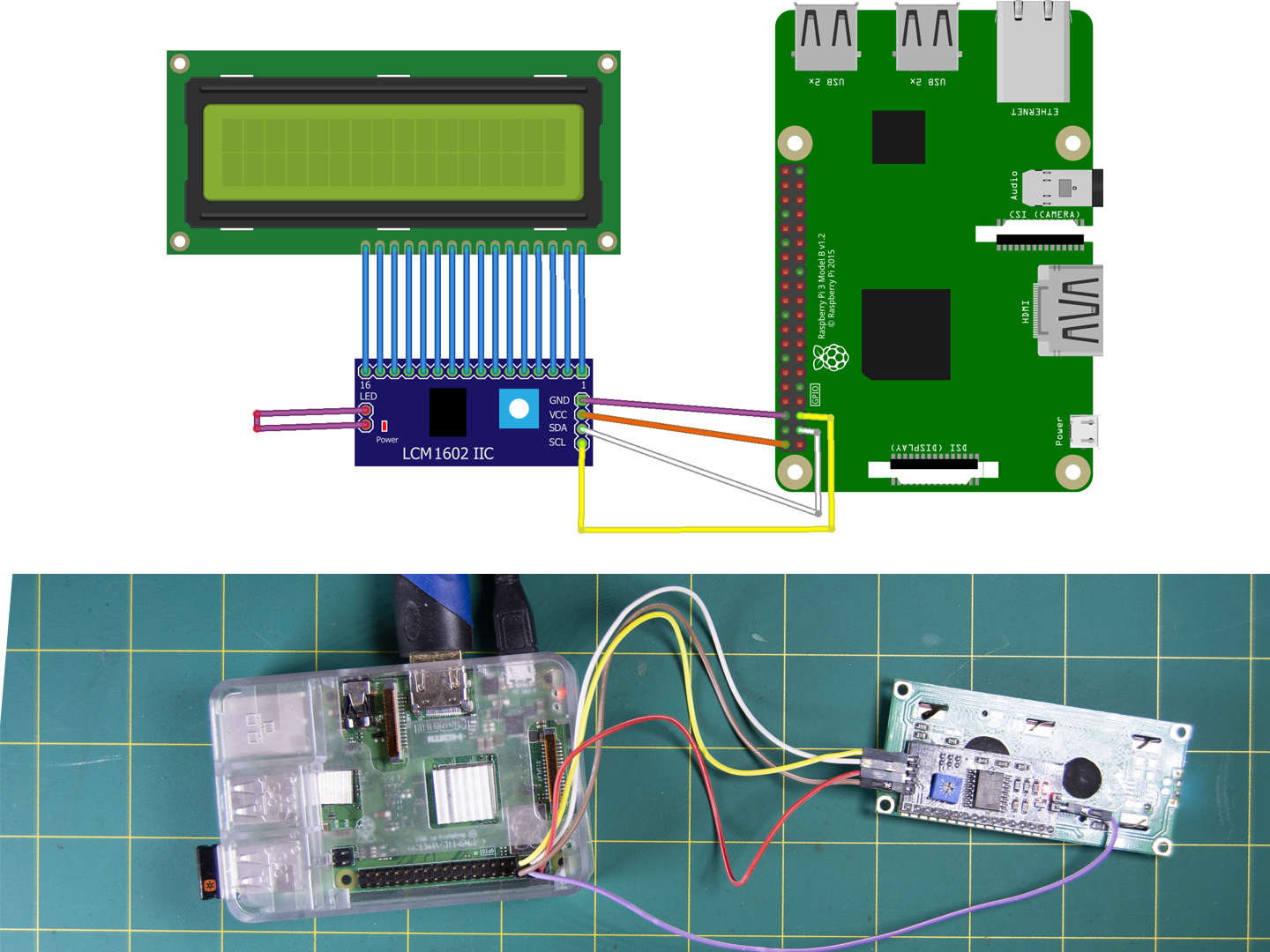 Connect LCD to Raspberry Pi