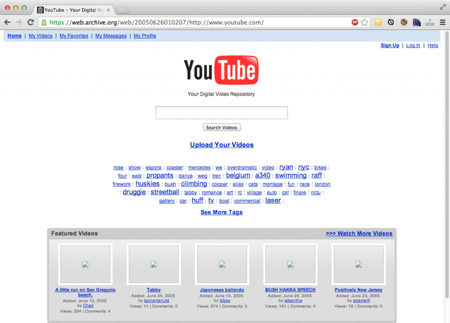 YouTube in 2005