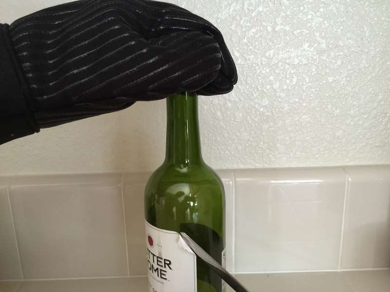 Use a knife to peel away the corner of the label