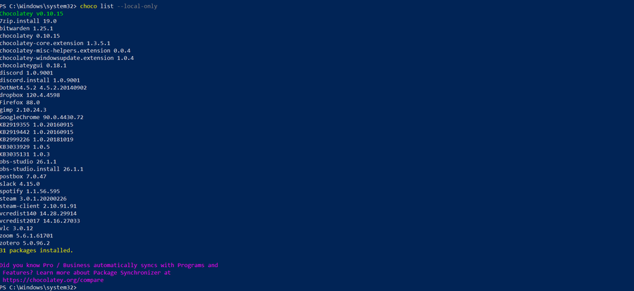 PowerShell uninstall