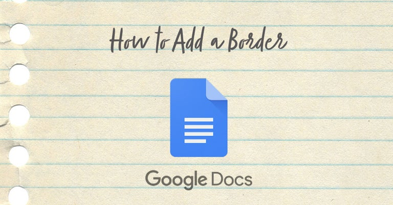 How to add a border Google Docs