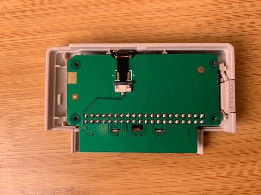 Connecting the GPi IO conversion board and pogo pin system