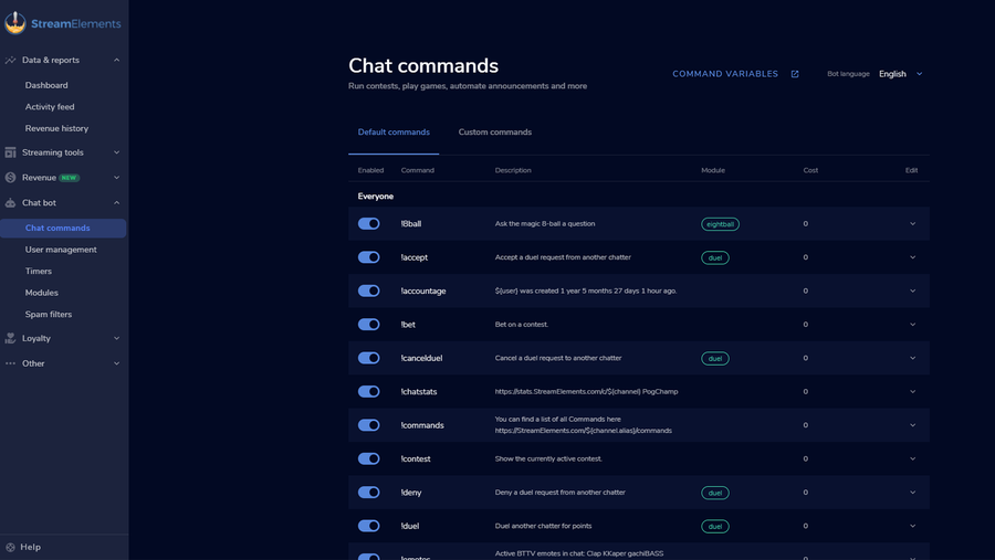 free content creation tool streamelements