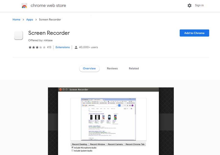 Chrome Screen Recording Extension