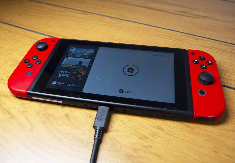 Nintendo Switch charging with AC Adapter