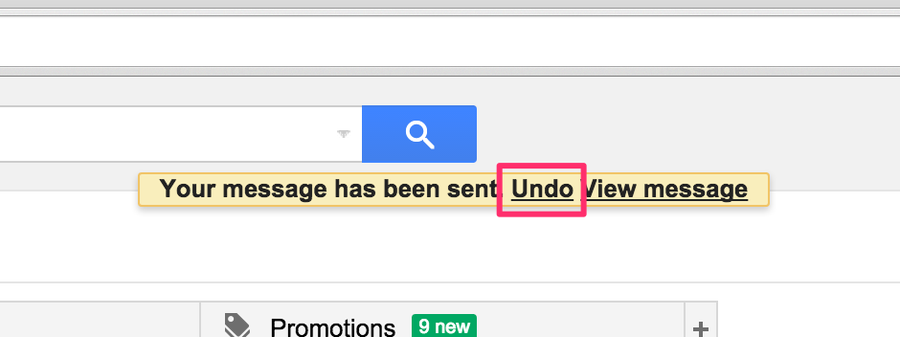 Unsend an email