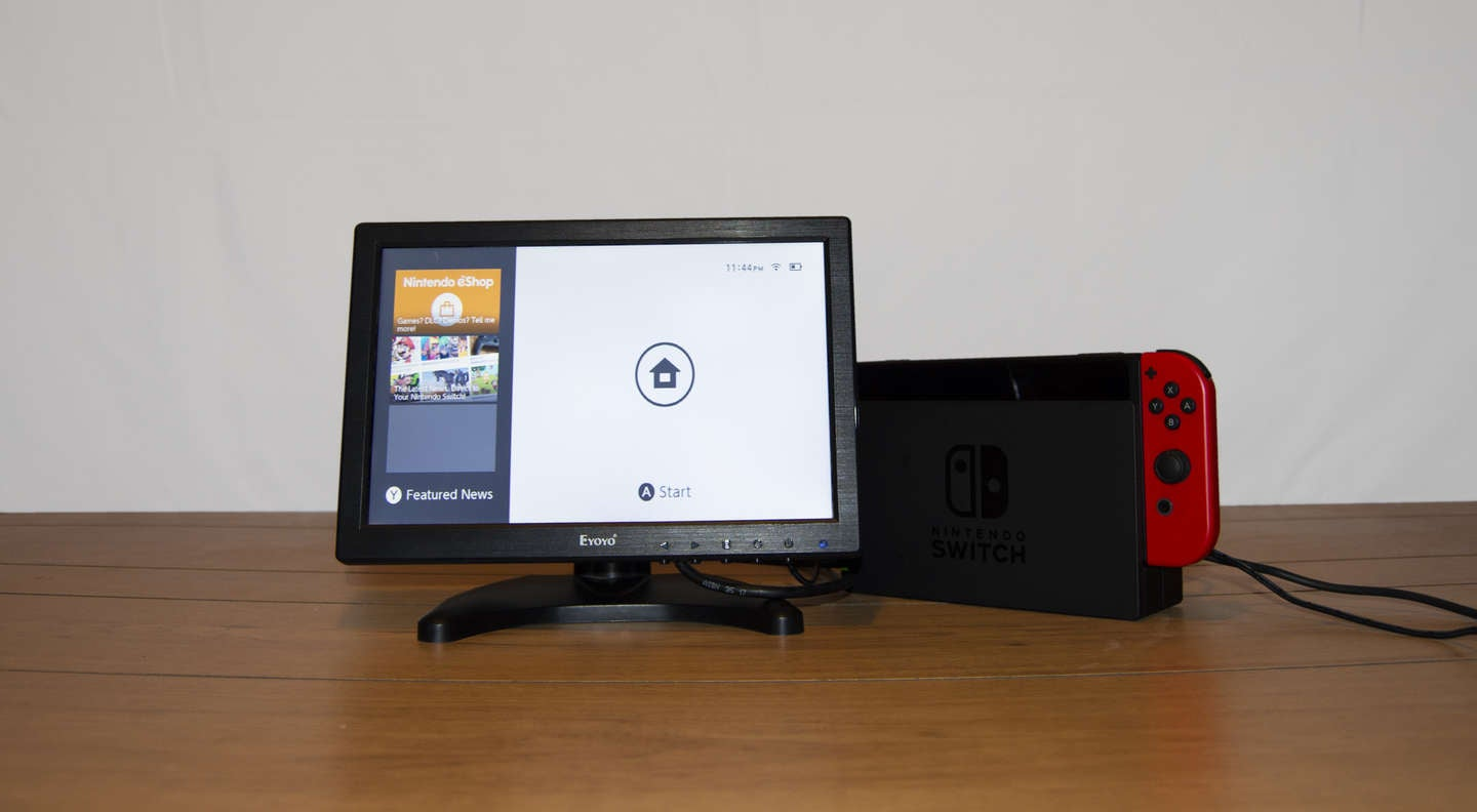 Nintendo Switch connected to TV