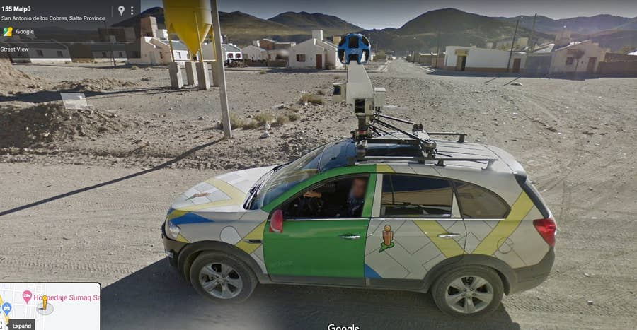 google street view car on street view