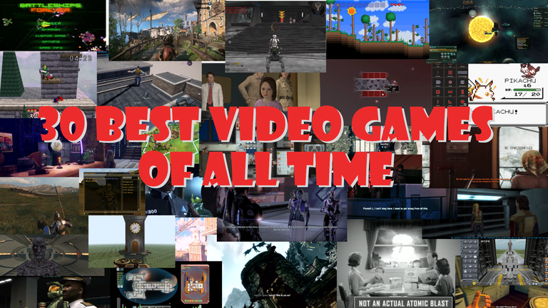 30 Best Video Games of All Time